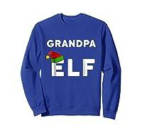 Matching Christmas Elf Grandpa Elf Shirts Sweatshirt Royal Blue