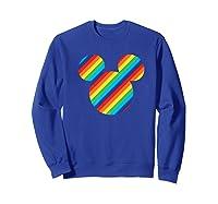 Mickey Mouse Rainbow Icon Shirts Sweatshirt Royal Blue