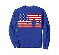 Gymnastics Rings Usa American Flag Gymnast 4th Of July T-shirt Sweatshirt Royal Blue