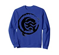 Nickelodeon The Legend Of Korra Bw Water Elet Logo Shirts Sweatshirt Royal Blue