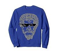 Marcus Aurelius Sunglasses T-shirt Funny Stoic Sweatshirt Royal Blue