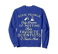 Science Tea Shirt - Favorite Scientists Sweatshirt Royal Blue