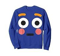 Flushed Face Emoji Easy Lazy Group Halloween Costume Shirts Sweatshirt Royal Blue