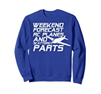 Rc Plane T-shirt For Guys Rc Planes And Scattered Parts Sweatshirt Royal Blue