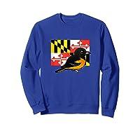 State Birdorable Of Maryland Cute Baltimore Oriole Shirts Sweatshirt Royal Blue