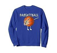 Dabsketball The Dabbing Basketball, Funny Novelty Shirts Sweatshirt Royal Blue