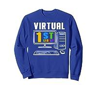 Remote Teaching Online Learning Virtual Tea Premium T-shirt Sweatshirt Royal Blue