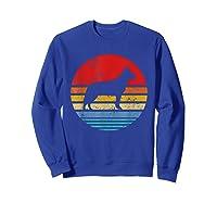 Cattle Dog Retro Sunset Distressed Mom Dad Dog Lover Gift Shirts Sweatshirt Royal Blue