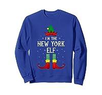I\\\'m The New York Elf Family Group Christmas T-shirt Sweatshirt Royal Blue