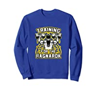 Viking Training For Ragnarok Gym Shirts Sweatshirt Royal Blue