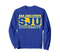 San Jose State 1887 University Apparel Shirts Sweatshirt Royal Blue