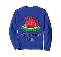 Watermelon Shirt - Cute Fun Of Summer Watermelon T-shirt Sweatshirt Royal Blue