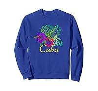 Cuba Beach Tropical Travel Surf Gift Shirts Sweatshirt Royal Blue