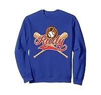 Baseball Player Rudy Birthday Boy T-shirt \\\'s Name Sweatshirt Royal Blue