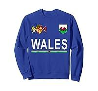 Wales Cheer 2017 Football Welsh Shirts Sweatshirt Royal Blue