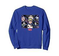 Naruto Shippuden Group Panels Shirts Sweatshirt Royal Blue