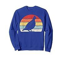 Vintage Retro Grouse T-shirt Sweatshirt Royal Blue