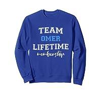 Team Omer Groom Squad Custom Bachelor Party Wedding Shirts Sweatshirt Royal Blue