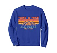 New York Vintage Take A Hike Old Forge Moutain T-shirt Sweatshirt Royal Blue