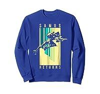 Nintendo Metroid Samus Returns Spotlight Graphic T-shirt Sweatshirt Royal Blue