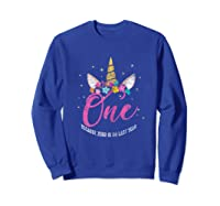 1 Year Old Birthday Girl Gifts Unicorn 1st Birthday Shirts Sweatshirt Royal Blue
