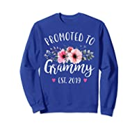 Promoted To Grammy Est 2019 Baby Announce Shirts Sweatshirt Royal Blue