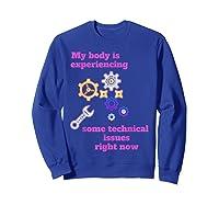 Fibromyalgia Gift Chronic Illness Shirts Sweatshirt Royal Blue