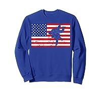 Distressed Judo Gi Usa American Flag Vintage Martial Arts T-shirt Sweatshirt Royal Blue