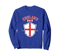 England Soccer English Flag Football Gift Shirts Sweatshirt Royal Blue
