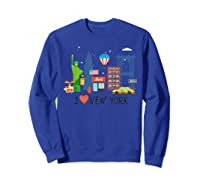 Love New York City Ny Tourist Souvenir Gift Shirts Sweatshirt Royal Blue