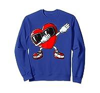 Dabbing Heart Valentines Day Love Dab Dance Gifts T-shirt Sweatshirt Royal Blue