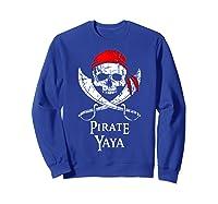 Pirate Yaya Skull And Crossbones Flag T-shirt Sweatshirt Royal Blue