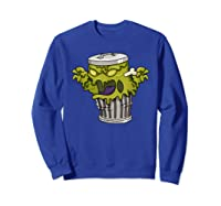 Garbage Monster Funny Gift Halloween Shirts Sweatshirt Royal Blue