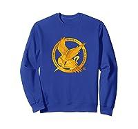 Star Twisted Mockingjay Logo Twisted Musical Shirts Sweatshirt Royal Blue