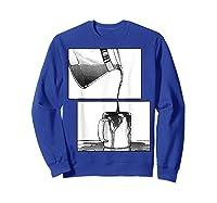 Manga Coffee Break Shirts Sweatshirt Royal Blue
