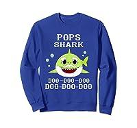 Pops Shark Doo Doo Doo Matching Family Shark Shirts Sweatshirt Royal Blue