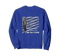 Military Combat Veteran Proud Patriot Us Flag I Am The Storm Premium T-shirt Sweatshirt Royal Blue