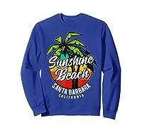 California Hawaii Surf Surfing Board Beach Vintage Retro Shirts Sweatshirt Royal Blue