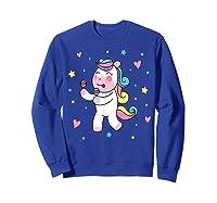 Cute Unicorn, Gift For Unicorn Lover Unicorn Lover Gift Shirts Sweatshirt Royal Blue
