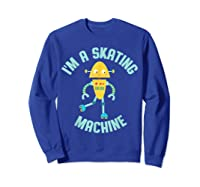 Roller Skating Robot For And Girls Shirts Sweatshirt Royal Blue