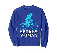 Spokes Woman Cycling Shirts Sweatshirt Royal Blue