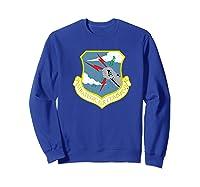 Strategic Air Command Sac Cold War Grunge T-shirt Sweatshirt Royal Blue
