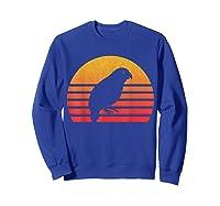 Vintage Retro Sunset Kakapo T-shirt Sweatshirt Royal Blue