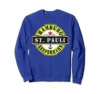 Hamburg St Pauli Reeperbahn Red Light Party Out Shirts Sweatshirt Royal Blue