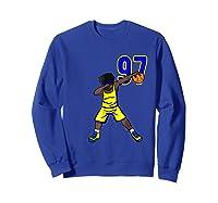 Basketball Birthday T-shirt 97 Funny Dabbing Shirt Dab Sweatshirt Royal Blue