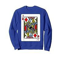 Jack Of Diamonds Playing Card Group Costume Poker Player T-shirt Sweatshirt Royal Blue