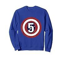 Superhero Comic Birthday T Shirt 5 Year Old Sweatshirt Royal Blue
