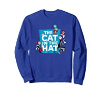 Dr Seuss The Cat In The Hat Characters Shirts Sweatshirt Royal Blue