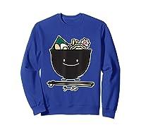 Ra Bowl Noodles Chopsticks Seaweed Soup Char Siu Pork T-shirt Sweatshirt Royal Blue