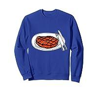 Steak Graphic For A Bbq Steak Lover T-shirt Sweatshirt Royal Blue